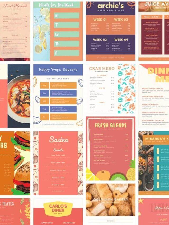 八個菜單設計的注意事項